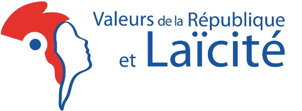 logo valeurs de la république et laïcité