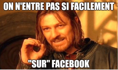 Boromir : on n'entre pas si facilement sur facebook