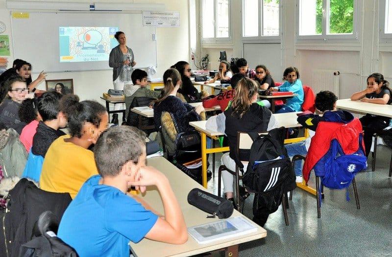 Photo présentation des PDN42 au collège du Portail Rouge